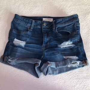 blue ripped jean shorts pacsun